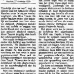 Haarlems Dagblad 27 november 1999
